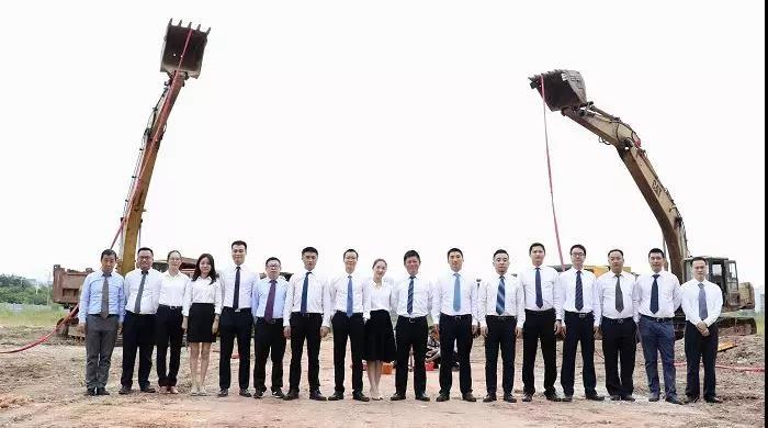2019 年8月23日高新区高端商住一体项目振业深河湾动工仪式